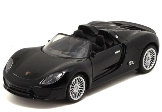 Kids 1:32 Red/ Black / Silver Die-Cast Porsche 918 Toy