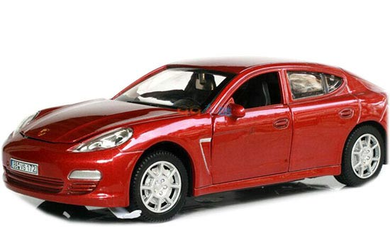 Kids 1:28 Red /White /Blue /Black Diecast Porsche Panamera