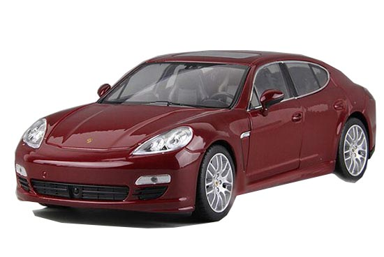 White Red 1 24 Scale Diecast Porsche Panamera S Model