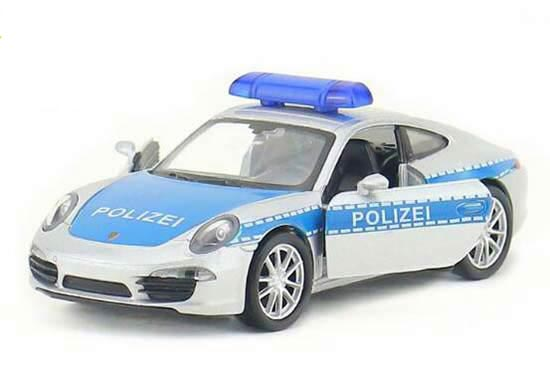 Blue-Silver 1:36 Welly Diecast Porsche 911 Carrera S Coupe Toy