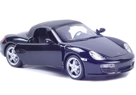 1:24 Scale Black / Yellow Welly Die-Cast Porsche Boxster S Model