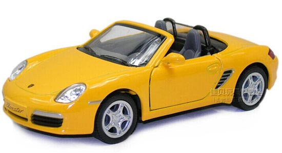 1:36 Blue / Red / Yellow / Silver Die-Cast Porsche Boxster S Toy