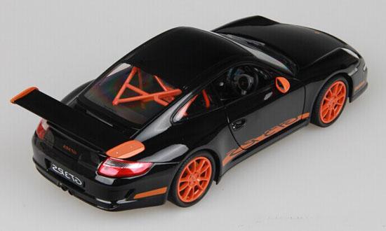 1 18 Black Orange Welly Diecast Porsche 911 Gt3 Rs Model