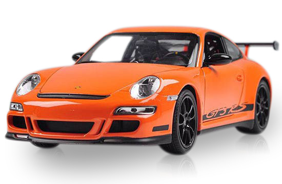 1 18 Black Orange Welly Diecast Porsche 911 Gt3 Rs Model
