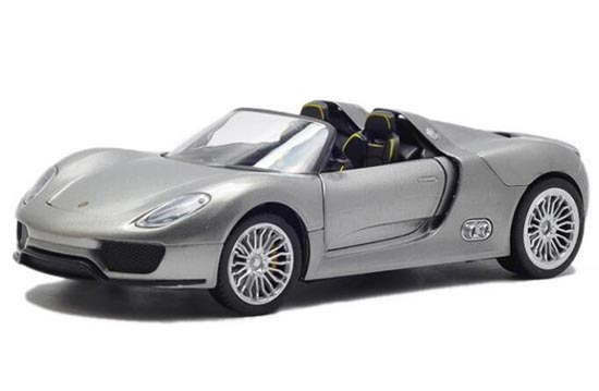 1:24 Scale Black / Silver Die-Cast Porsche 918 SPYDER Model