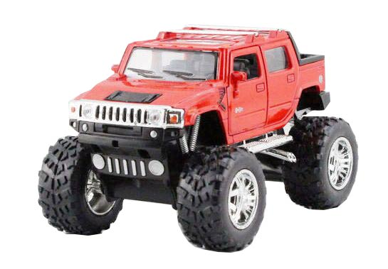 Red / Black / Yellow 1:40 Scale Diecast Hummer H2 SUT Toy