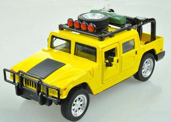 Red / Green / Yellow 1:32 Scale Kids Hummer H1 Pickup Truck Toy