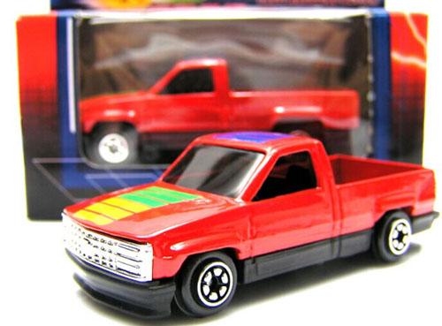1:64 Scale Kids Red Diecast 1990 Chevrolet Pickup Truck Toy