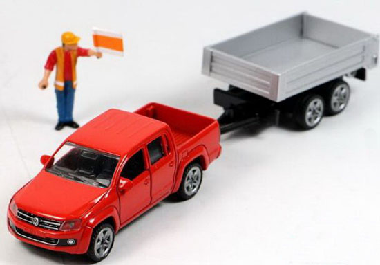 1:55 Scale Red SIKU 3543 Diecast VW Pickup Truck Toy
