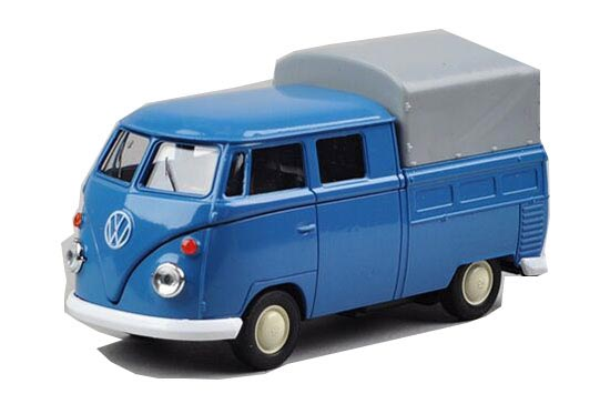 Blue 1:36 Scale Welly Diecast VW T1 Pickup Truck Toy