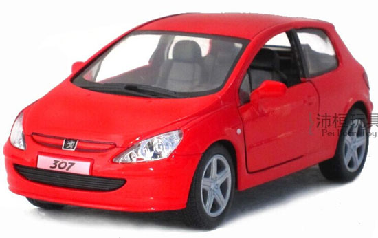 Kids Blue / Green / Silver / Red 1:32 Diecast Peugeot 307 Toy