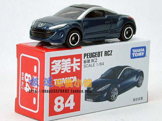 Blue / Wine Red Kids 1:64 Scale Diecast Peugeot RCZ Toy