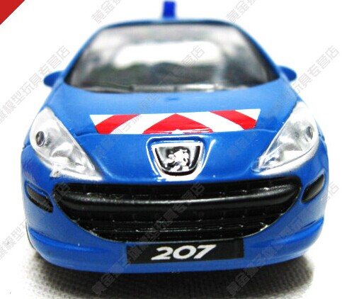 Blue Kids 1:43 Scale Diecast Peugeot 207 Toy