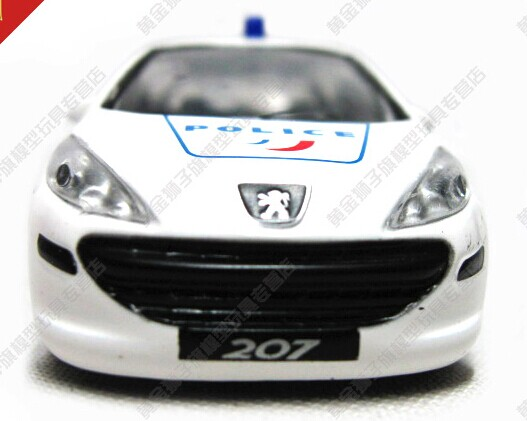 White 1:43 Scale Kids Diecast Peugeot 207 Toy