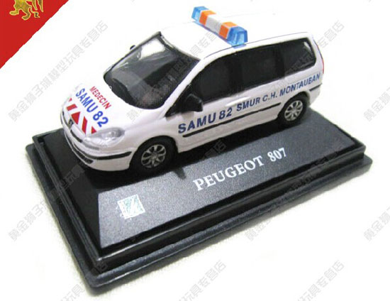 White 1:72 Scale Cararama Diecast Peugeot 807 Toy