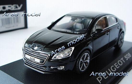 Black 1 43 Scale Norev Diecast Peugeot 508 Model