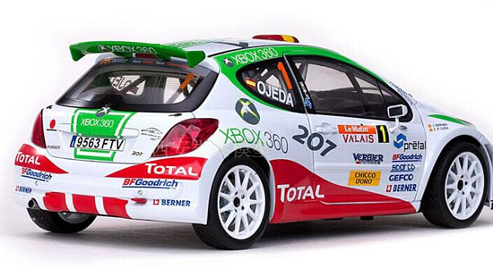 1 18 scale colorful sunstar wrc diecast peugeot 207 model pt02t0024. Black Bedroom Furniture Sets. Home Design Ideas
