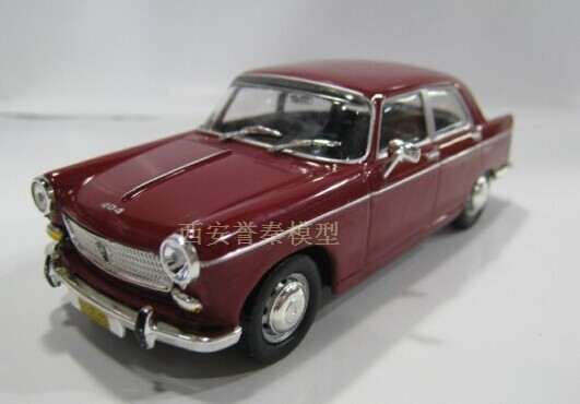 Wine Red 1:43 Scale IXO Diecast Peugeot 404 Model