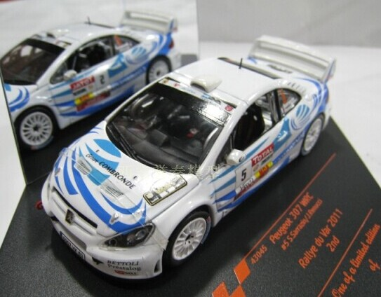 1:43 Scale Yellow / White WRC Diecast Peugeot 307 Model