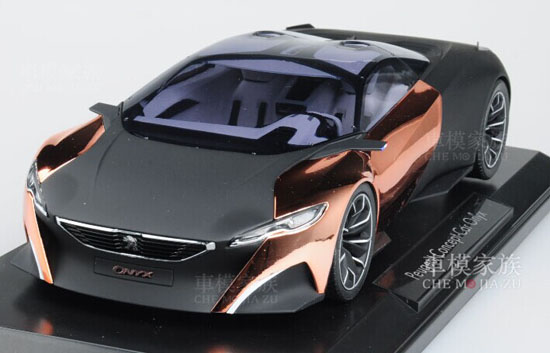 Black 1:18 Scale Norev Diecast Peugeot Concept Car ONYX Model