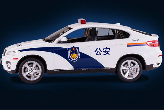 1/14 Large Scale White BMW X6 Police Car With Alarm Device