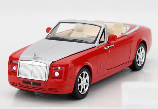 1:32 White / Black / Red / Blue Diecast Rolls-Royce Phantom Toy