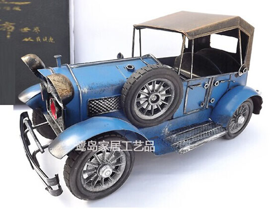 Blue / Red /White Medium Size Tinplate Vintage Rolls-Royce Model