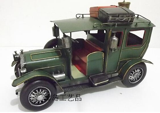 Medium Size Blue / Green Tinplate Vintage Rolls-Royce Model