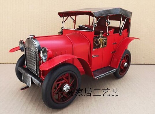 Medium Size Red Tinplate Vintage Style Rolls-Royce Model