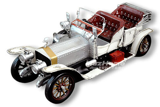 Silver Large Tinplate Vintage Rolls-Royce Silver Ghost Model