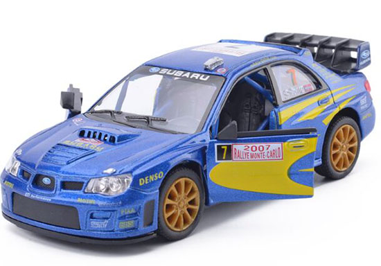 Kids Blue 1:36 Scale Subaru Impreza WRC 2007 Car Toy