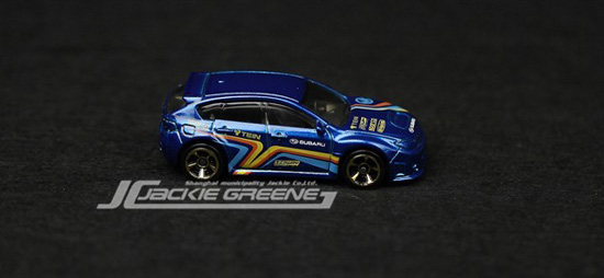 Mini Scale Kids Blue Hotwheels Subaru WRX STI Car Toy