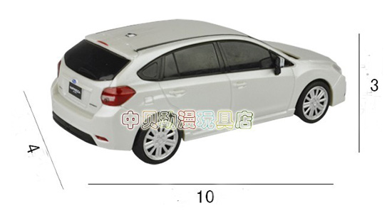Kids Silver-white Pull-Back Function Subaru Car Toy