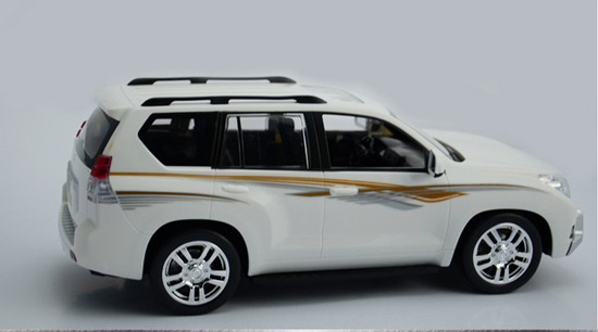 1:16 Large Scale Kids White R/C Toyota LAND CRUISER PRADO