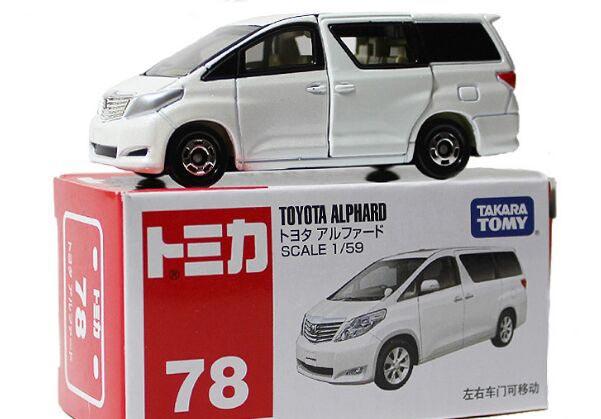 Tomy Mini Scale White Kids No 78 Toyota Alphard Toy