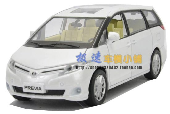 1:32 Scale Golden / White / Black Kids Toyota PREVIA Toy
