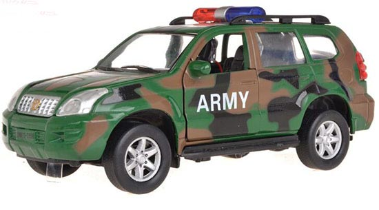 1:32 Scale Army Green Kids Toyota Prado With Army Theme Toy