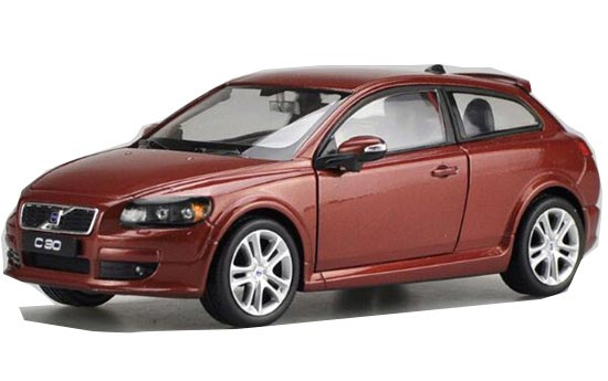 Welly 1:24 Scale Red / Silver Diecast Volvo C30 Model