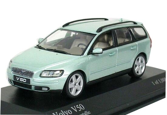 Blue 1:43 Scale Minichamps Diecast Volvo V50 Model