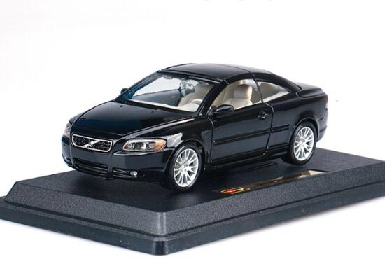 Black 1:24 Scale Bburago Diecast Volvo C70 Model