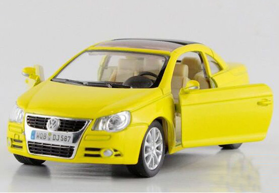 Kids 1:32 Scale Blue / Red / Yellow / Silver Diecast VW EOS Toy