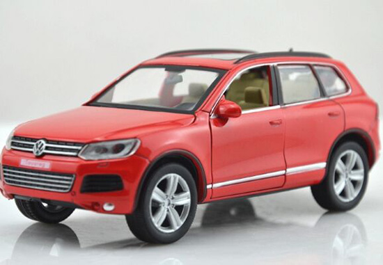 1:32 Scale Red / Black / White / Blue Diecast VW Touareg Toy