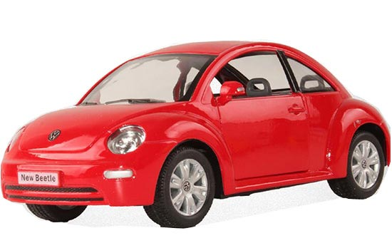 Kids 1:24 Scale Red / Green / Yellow Diecast VW New Beetle Toy
