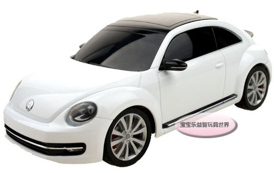 1:24 Scale Welly Red / White R/C VW New Beetle Toy