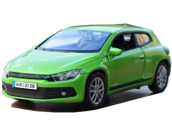 1:36 Scale Green / White Welly Diecast VW Scirocco Toy
