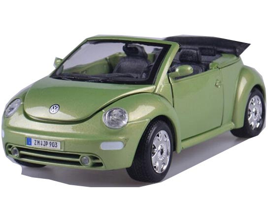 1:24 Scale Green Cabrio Diecast VW New Beetle Model