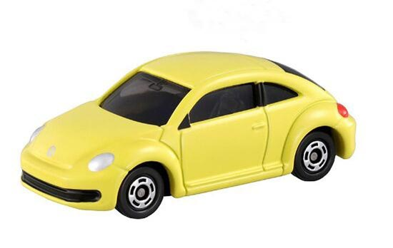 Mini Scale Kids Yellow / White TOMY Diecast VW Beetle Toy