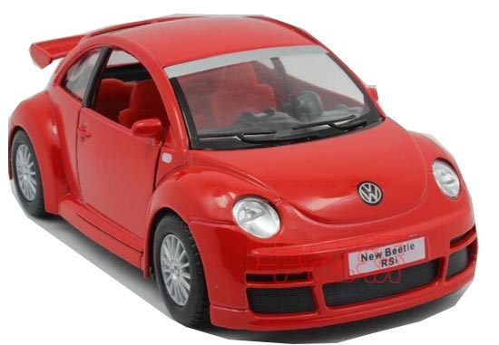 1:32 Scale Silver /Blue /Red /Black Diecast VW Beetle RSI Toy