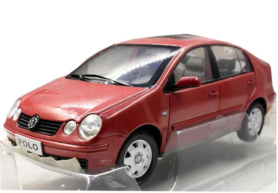 1:18 Scale Red Diecast VW POLO Model