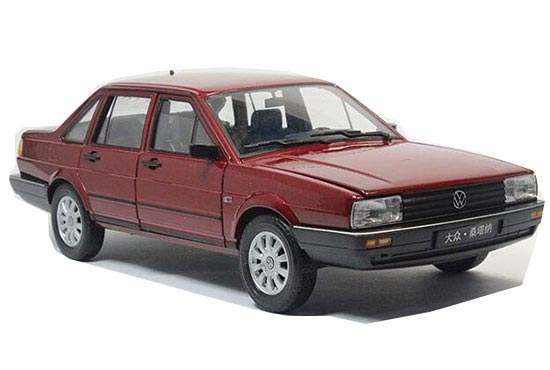 1:18 Blue/ Wine Red / Black / White Diecast VW Santana Model